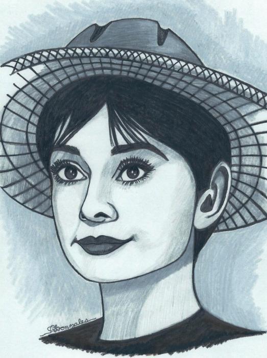 Audrey Hepburn by aaronmark